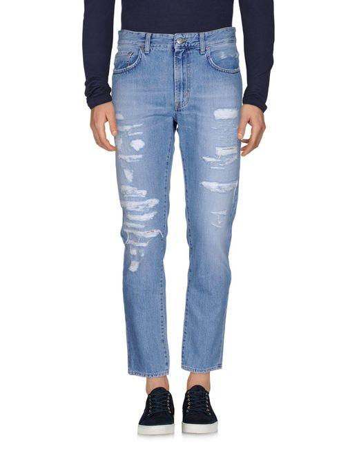 Department 5 - Blue Denim Pants for Men - Lyst