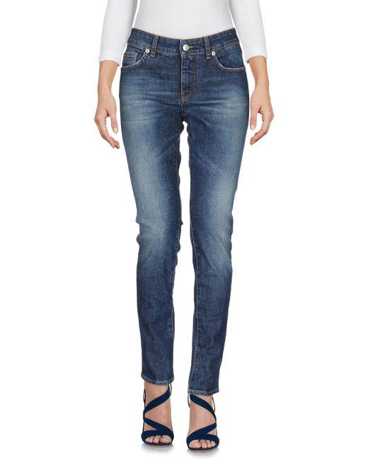 Department 5 - Blue Denim Pants - Lyst