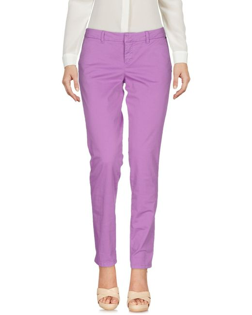 Guess - Purple Casual Trouser - Lyst
