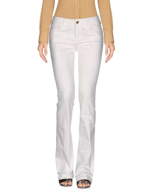 Manila Grace - White Casual Pants - Lyst