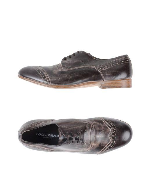 Dolce & Gabbana - Black Derby Milano Shoes for Men - Lyst