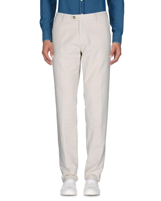 Corneliani - White Casual Pants for Men - Lyst