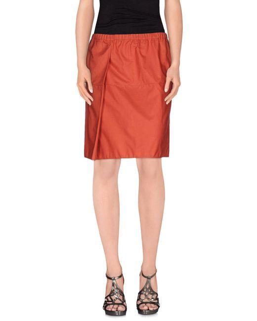 Marni - Brown Knee Length Skirt - Lyst