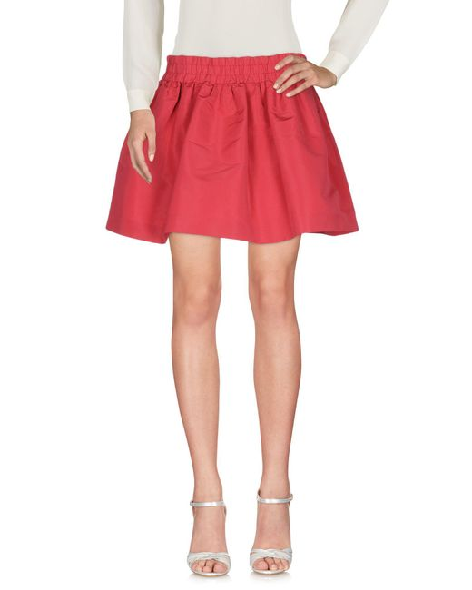 RED Valentino - Red Mini Skirt - Lyst