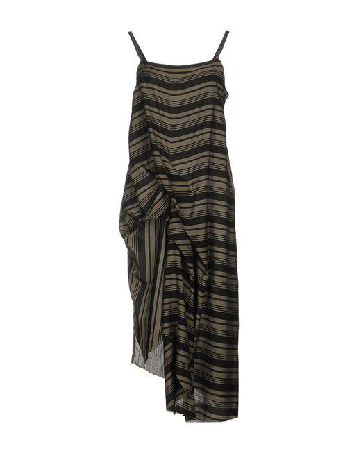 Isabel Benenato - Green 3/4 Length Dresses - Lyst