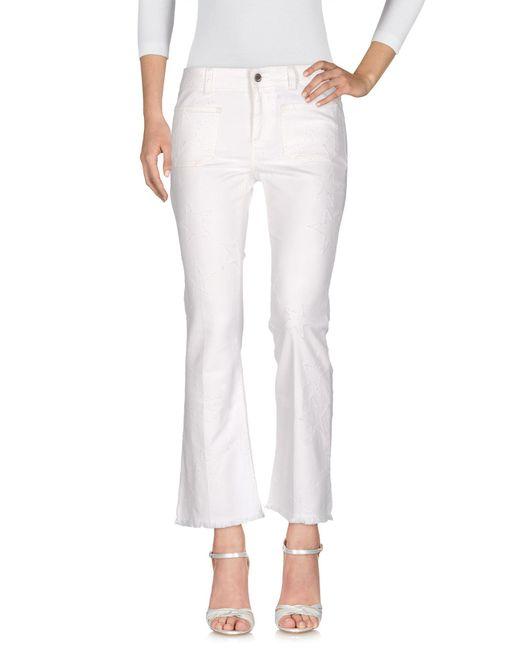 Stella McCartney White Denim Trousers