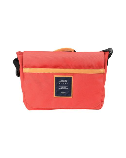 36ab00fc71 Armani Jeans - Red Cross-body Bags - Lyst ...