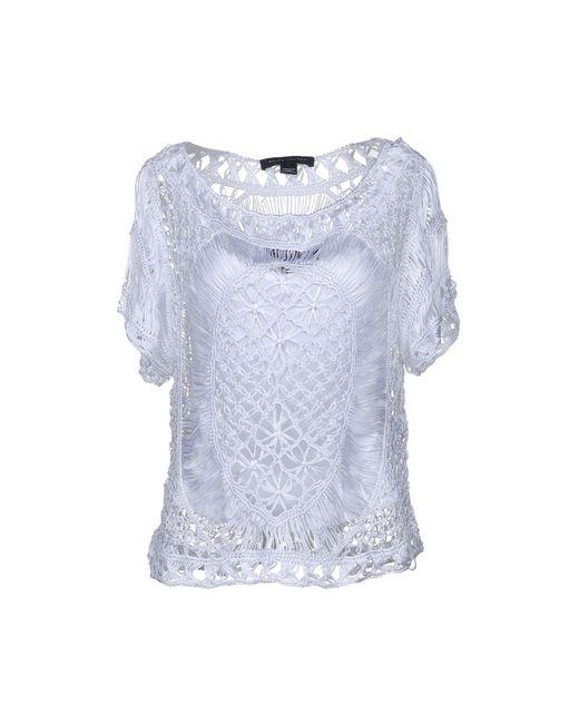 Ralph Lauren Black Label - White Sweater - Lyst