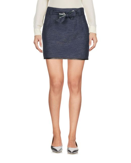 RED Valentino - Blue Mini Skirts - Lyst
