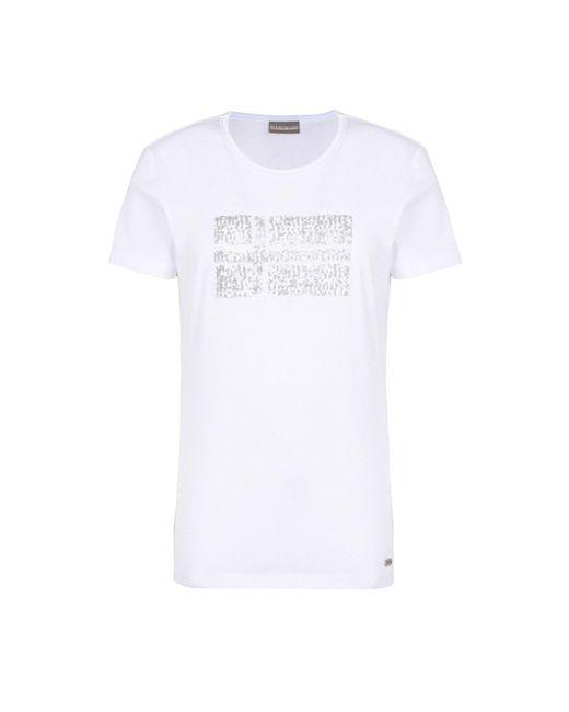 Napapijri - White Short Sleeve T-shirt - Lyst