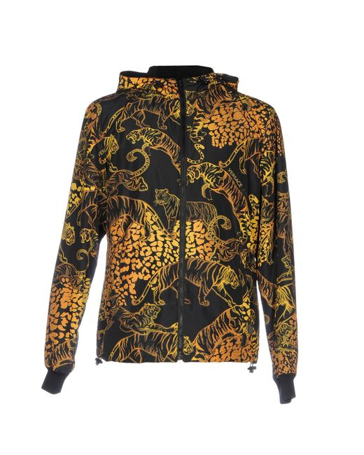 Versace Jeans - Black Jacket for Men - Lyst