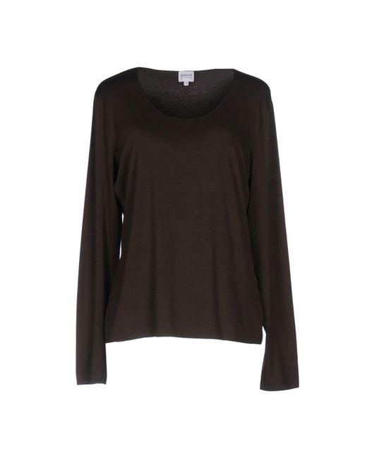Armani - Brown T-shirt - Lyst