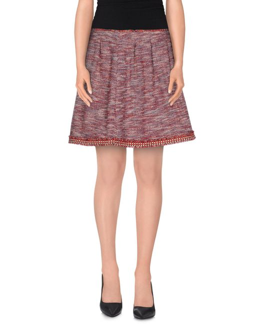 RED Valentino - Red Mini Skirt - Lyst
