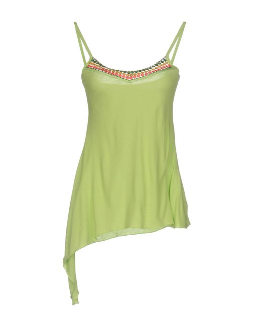 Blu Byblos - Green Top - Lyst