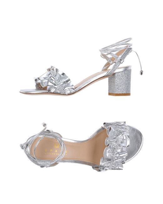 Space Style Concept - Metallic Sandals - Lyst