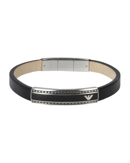 Emporio Armani - Black Bracelets for Men - Lyst
