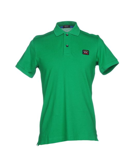 Paul & Shark - Green Polo Shirt for Men - Lyst