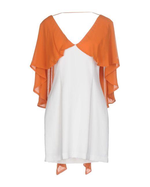 Annarita N. - White Short Dress - Lyst