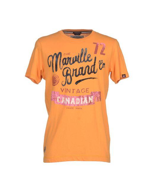 Marville - Orange T-shirt for Men - Lyst