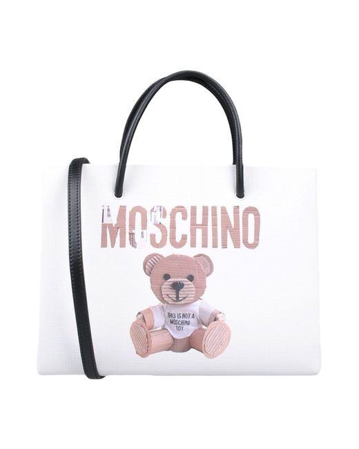 Moschino - White Handbags - Lyst
