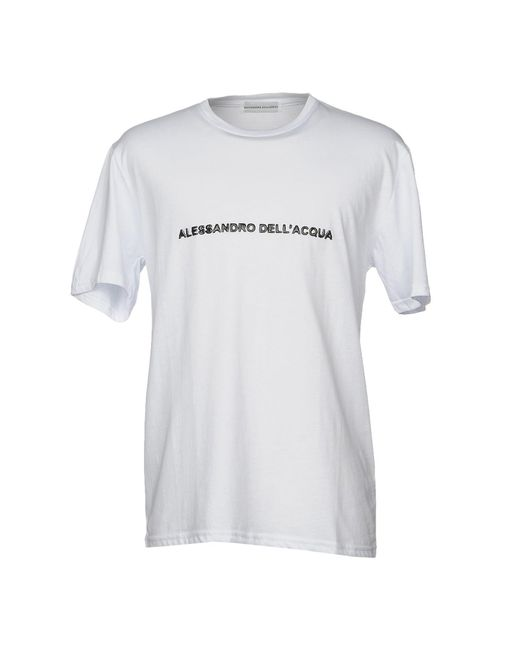 Alessandro Dell'acqua - White T-shirt for Men - Lyst