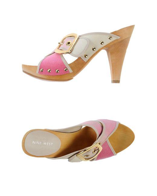 Nine West - Pink Mules - Lyst
