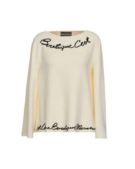 Boutique Moschino - White Sweater - Lyst
