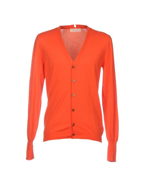 Mauro Grifoni - Orange Cardigan - Lyst