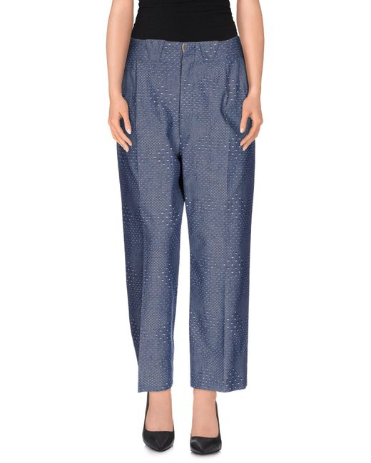 People - Gray Casual Trouser - Lyst