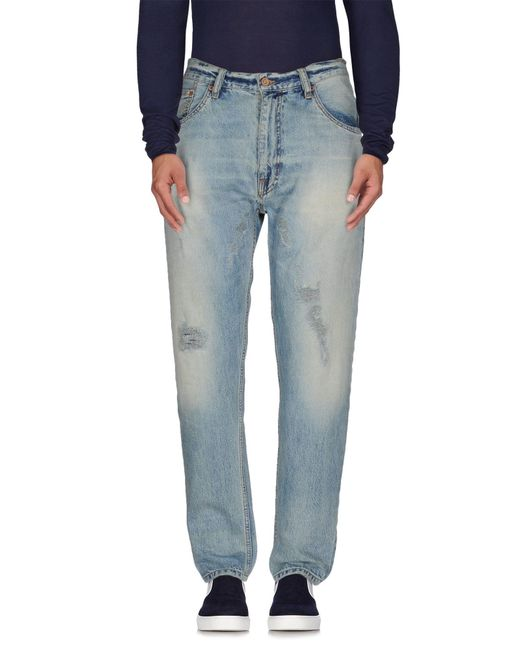 Uniform - Blue Denim Trousers for Men - Lyst