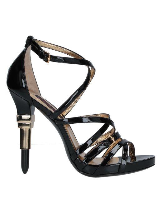 Alberto Guardiani Black Sandals