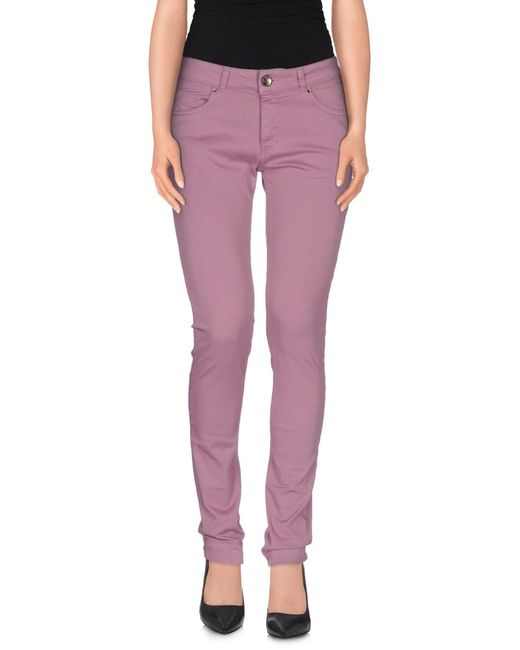 Twin Set - Purple Casual Pants - Lyst