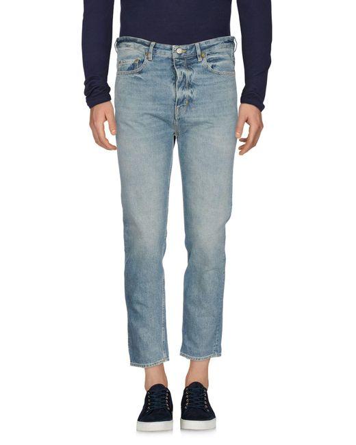 Golden Goose Deluxe Brand - Blue Denim Trousers for Men - Lyst