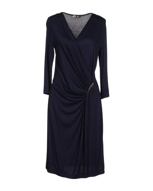 Sinequanone - Blue Knee-length Dress - Lyst