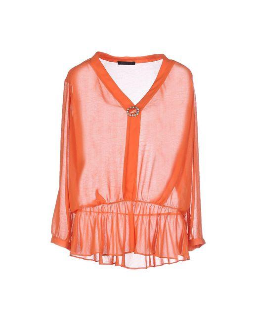 Pinko - Orange Blouse - Lyst