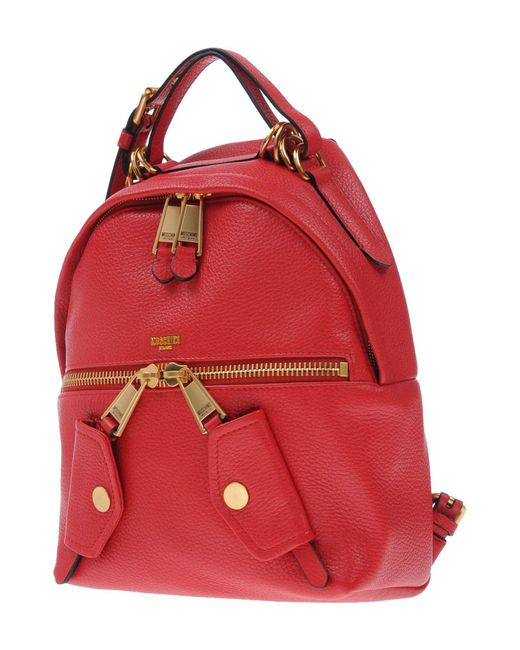 Moschino - Red Backpacks & Fanny Packs - Lyst