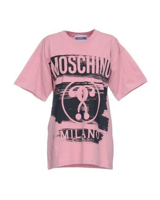 Moschino - Pink T-shirt - Lyst