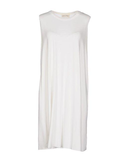American Vintage - White Short Dress - Lyst