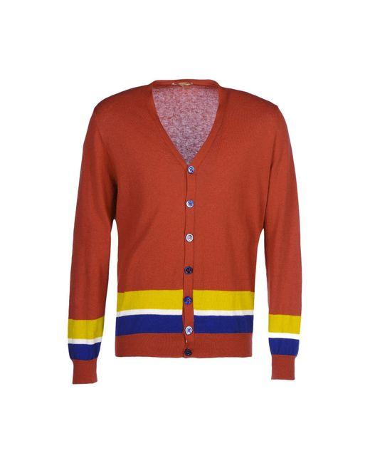 Luca Larenza - Red Cardigans for Men - Lyst