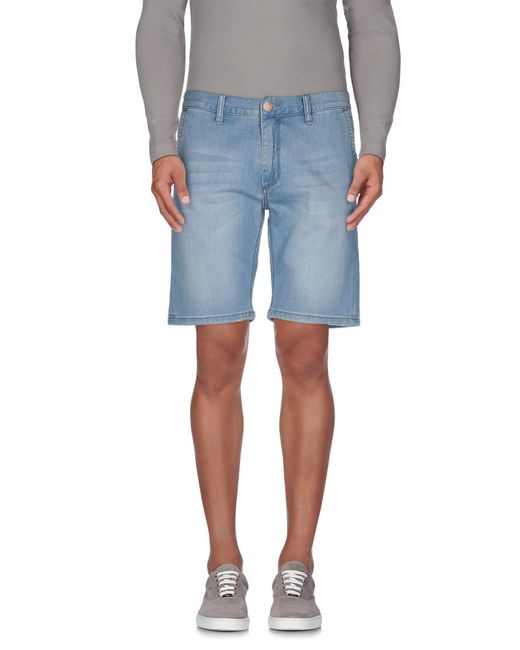 Sun 68 - Blue Denim Bermudas for Men - Lyst