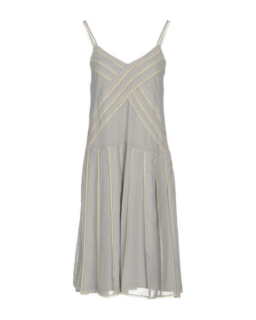 RED Valentino - Gray Knee-length Dresses - Lyst