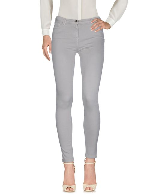 Who*s Who - Gray Casual Pants - Lyst