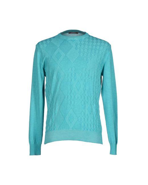 Andrea Fenzi - Blue Sweater for Men - Lyst