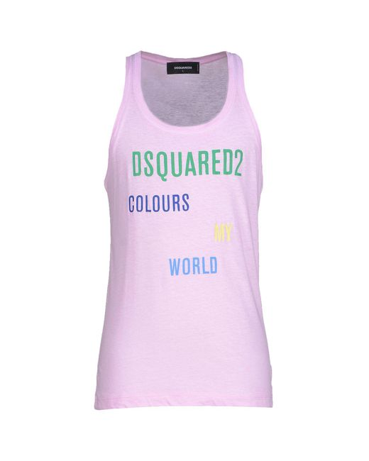 DSquared² - Pink Tank Top for Men - Lyst