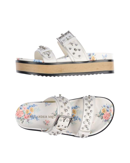 Alexander McQueen - White Sandals - Lyst