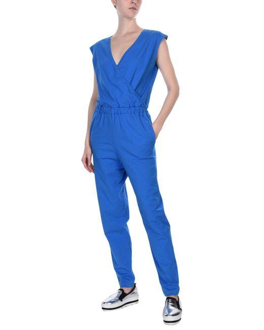 Stefanel - Blue Jumpsuits - Lyst