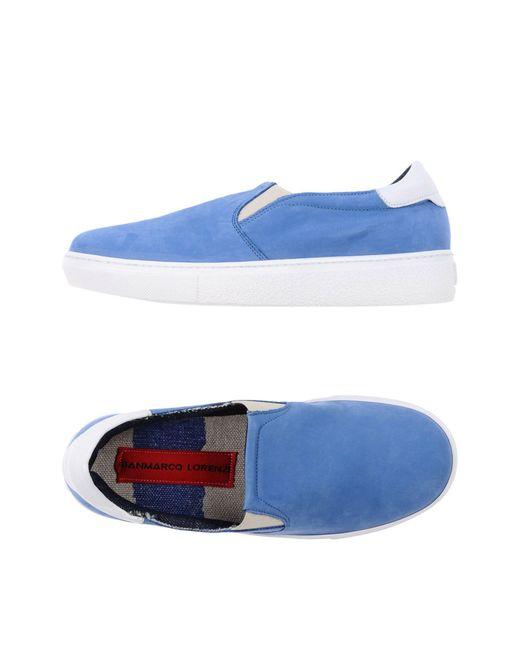 Gianmarco Lorenzi - Blue Low-tops & Sneakers - Lyst