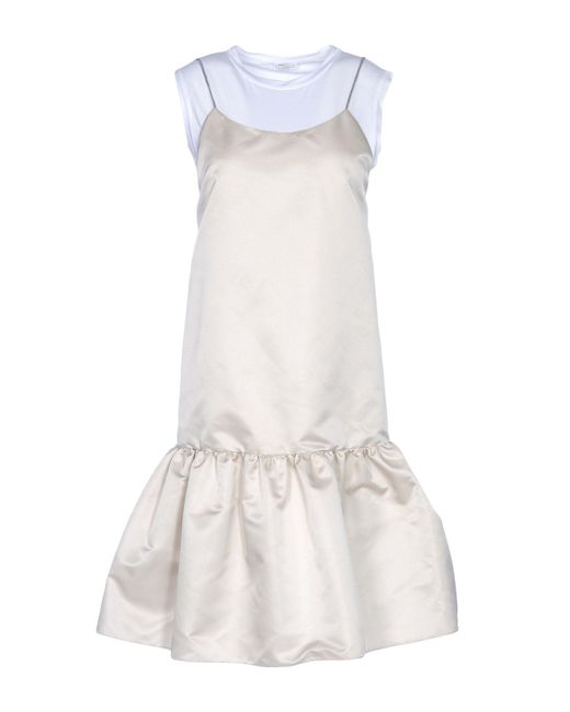 Brunello Cucinelli - White Short Dress - Lyst