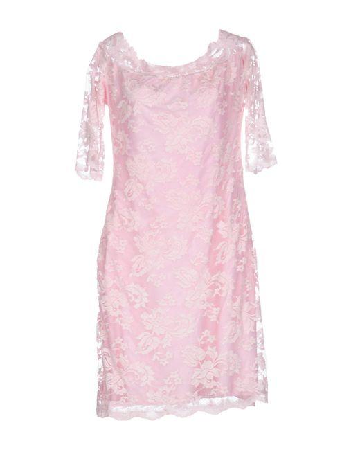 Balensi - Pink Short Dress - Lyst