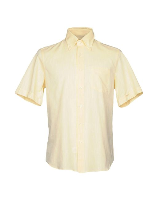 Rocco Barocco | Yellow Shirt for Men | Lyst